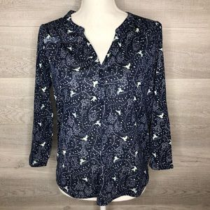 Adorable Navy Blue Dove Top by H&M size Small